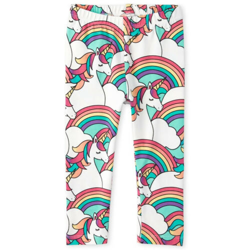 NWT The Childrens Place Girls Pink Glitter Unicorn Leggings 2T 3T 4T 5T