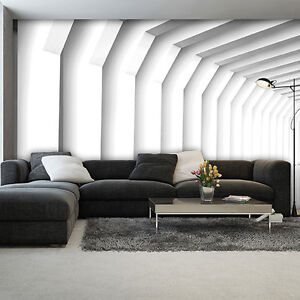 tapeten fototapete tapete poster muster weiss zimmer tunnel 3d 3fx2653p4 ebay. Black Bedroom Furniture Sets. Home Design Ideas