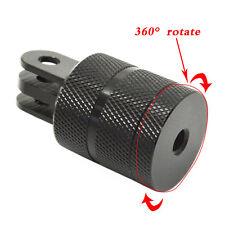 360 ° Giratorio De Aluminio 1/4 de pulgadas de montaje en trípode adaptador para sjcam Gopro Hero1 / 2/3/3 + / 4