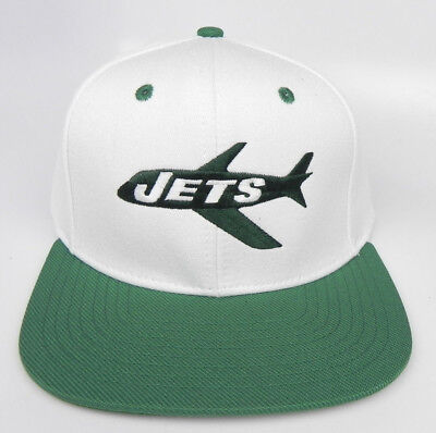 07ecf0ea5 NEW YORK JETS NFL VINTAGE SNAPBACK RETRO AIRPLANE FLAT BILL 2-TONE CAP HAT  NEW