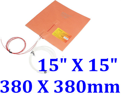 """11/""""  280mm Diameter 230V 280W Both Side w// 3M NTC100K Thermister Silicone Heater"""