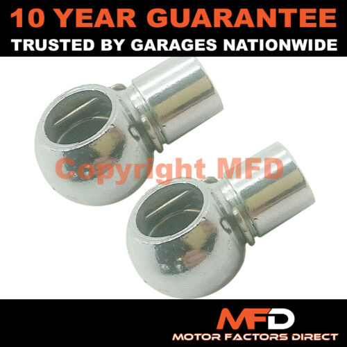 PAIR GAS STRUT END FITTINGS 10MM BALL SOCKET SILVER MULTI FIT GSF1