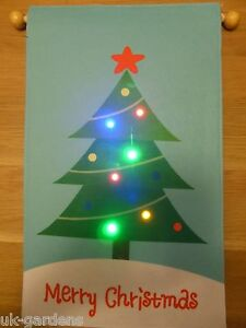 image is loading novelty merry christmas tree light up picture with