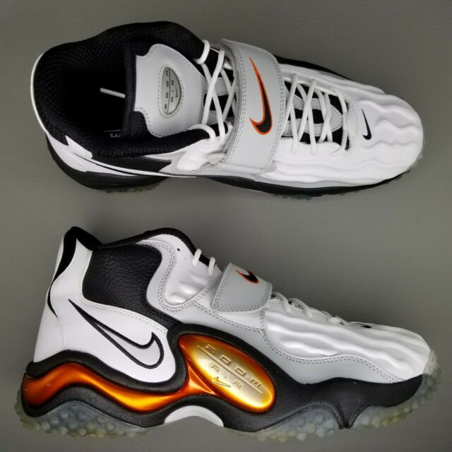 pas mal 9c46d fd860 Nike Air Zoom Turf Jet 97 Athletic Shoes Mens SZ 12 White Black Metallic  Copper