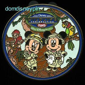 Disney-Pin-WDW-Wildlife-Conservation-Fund-Mickey-amp-Minnie-in-Safari-Gear
