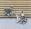 10//50pcs retro Hollow out fish alloy charm pendant jewelry accessory 15.6X17.6mm