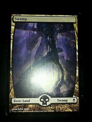 4 Swamps #241 ~ Zendikar Full Art Land Common MTG magic 4x x4