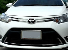 CHROME LOWER VENT GRILL COVER TRIM LINER FOR NEW TOYOTA VIOS SEDAN BELTA 2013-ON