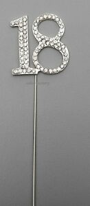 SILVER-NUMBER-18-CAKE-PICK-TOPPER-DECORATION-18TH-DIAMANTE-SPARKLY