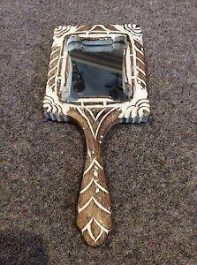 Shabby chic wooden vanity hand mirror - Heathfield, United Kingdom - Shabby chic wooden vanity hand mirror - Heathfield, United Kingdom