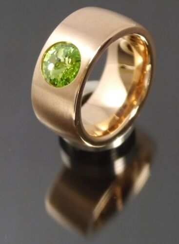 11 mm Edelstahlringe rosegold mit Swarovski Elements Stein Ringgrössenmassband