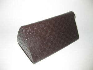 e7624a335090 Image is loading GUCCI-GUCCISSIMA-LARGE-BROWN-SUNGLASSES-CASE-WITH-CLEANING-