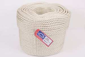 10mm Everlasto Three Strand Nylon Mooring/anchoring Rope Various Lengths