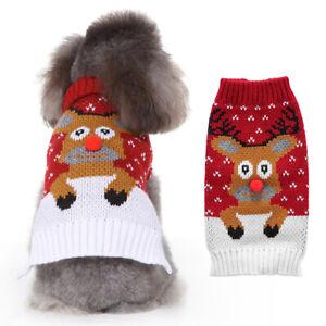 EG-Christmas-Elk-Warm-Dog-Clothing-Clothes-Coats-Jacket-Sweater-Apparel-Strikin