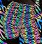 miniatuur 8 - Tessuto rifrangente oleografico con sfumature arcobaleno da cucire 140cm x 100cm