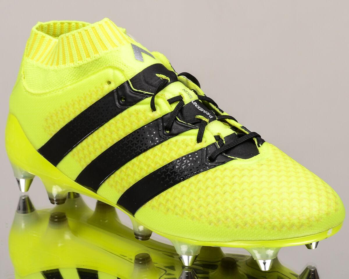 Adidas ACE 16.1 Primeknit SG Prime Knit Hombres Botines De Fútbol Volt AQ3458