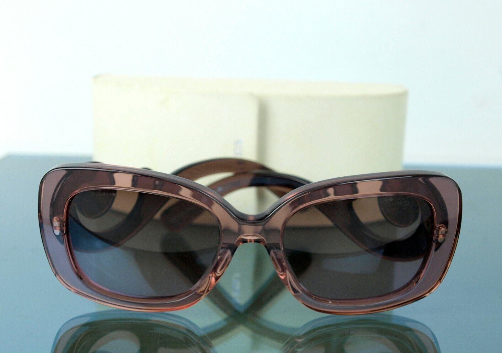 Authentic Prada Acetate Peach Brown Sunglasses SPR 270-A Size 54✖19✖135 Italy