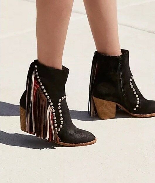 NEW Jeffrey Campbell Meadow Field Fringe bottes Taille 7.5