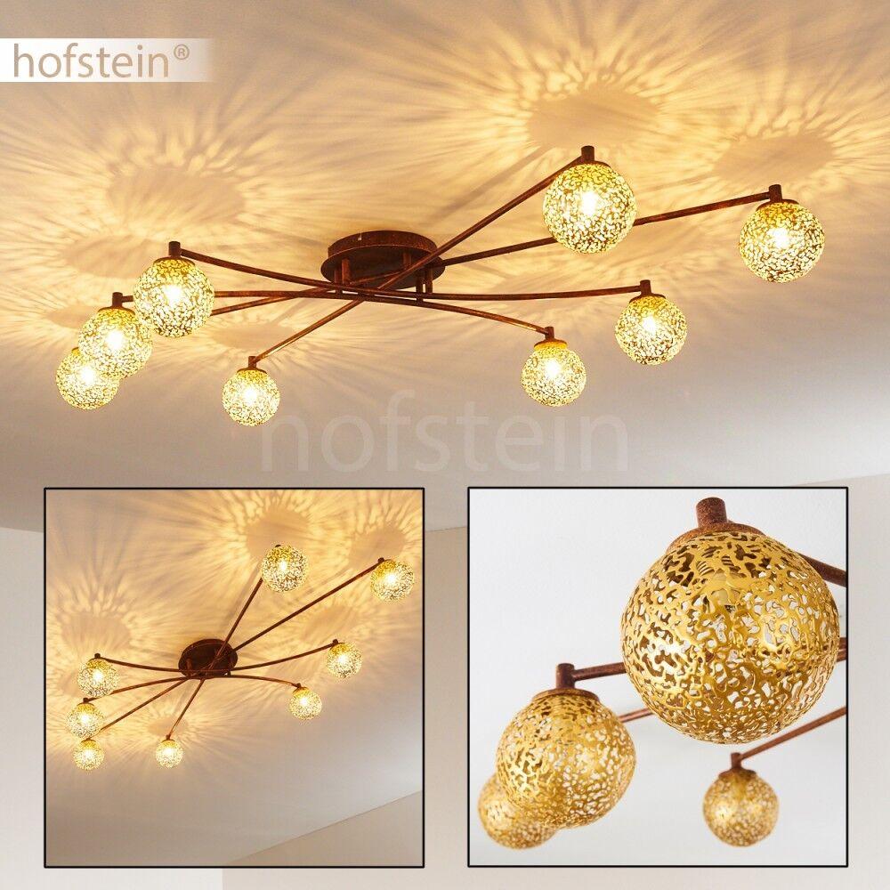 Decken Leuchten Vintage Flur Lampe Wohn Schlaf Raum Beleuchtung Rost Goldfarben