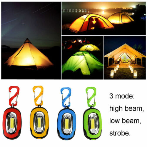 Waterproof Mini COB LED Flashlight Keychain Portable Torch Light Camping Hiking