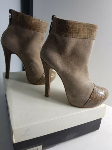 7 Cheryl Hells Talpa Eu Panel Boots 40 Taglia Suede Cole Humbug Mock Croc Ankle Uk rqx78rH