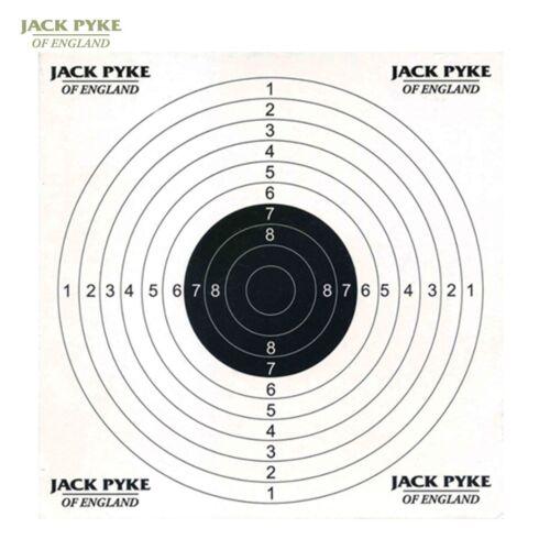 JACK Pyke bersagli di carta Fogli di carta x100 Pratica Tiro Fucile 14CM x 14CM
