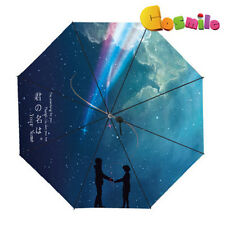 Your Name Kimi no Na wa taki Kun Mitsuha Movie Sun Rain Folding Umbrella Sa