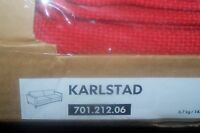 Ikea Karlstad 3-seat Sofa Bed Cover Set Only In Korndal Red