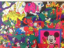 Rare Original 1970s 'Disneyland Memorial Orgy' Blacklight Poster by Wally Wood