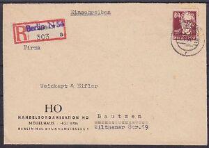SBZ-Mi-Nr-227-EF-Firmen-R-Brief-Berlin-HO-Moebelhaus-Bautzen-1951