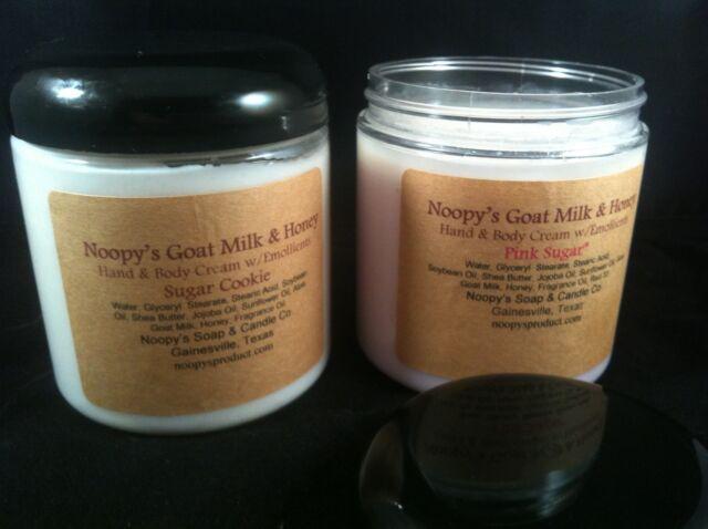 Goat Milk Honey Hand Body CHOCOLATE AMBER type*  8 oz  Cream Lotion by NOOPY'S