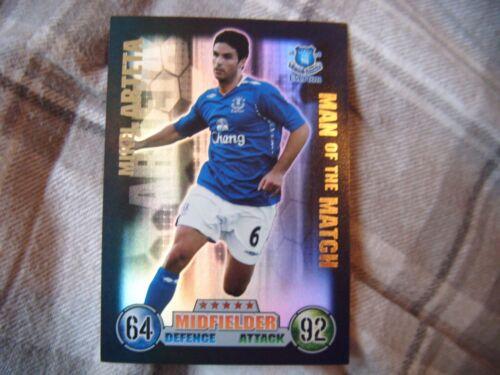 Topps 07//08 match Attax homme du match Brillant collectors card 2007//2008