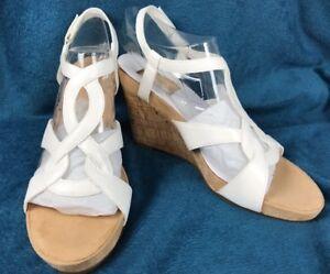 efc953179d Image is loading Aerosoles-Fabuplush-11M-Wedge-Sandals-White-Shoe-4-