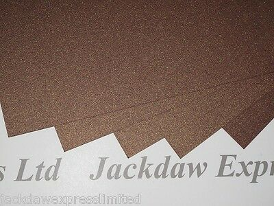 Brown Gold Metallic Shimmer Card 2-Sided 300gsm x10 Scrapbooking Cardmaking AM78