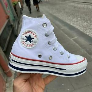 converse all star platform alte nere borchie