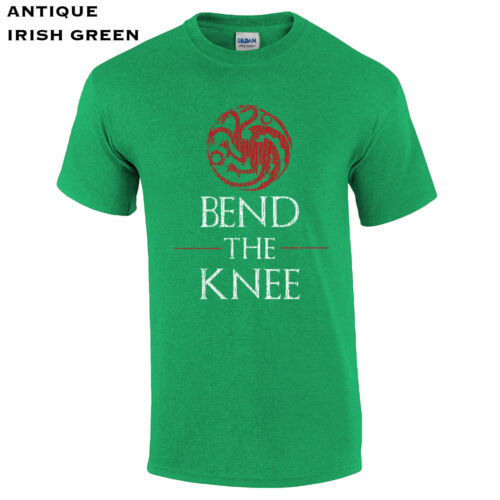 621 Bend The Knee Mens T-Shirt dragon queen mother of dragons game tv thrones
