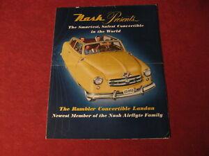 1950 Nash Convertible Sales Brochure booklet Catalog Book Old Original