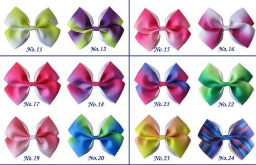 """50 BLESSING Girl 4.5/"""" Angel Hair Bow Clip 4.5/"""" Rainbow Easter Christmas Custom"""