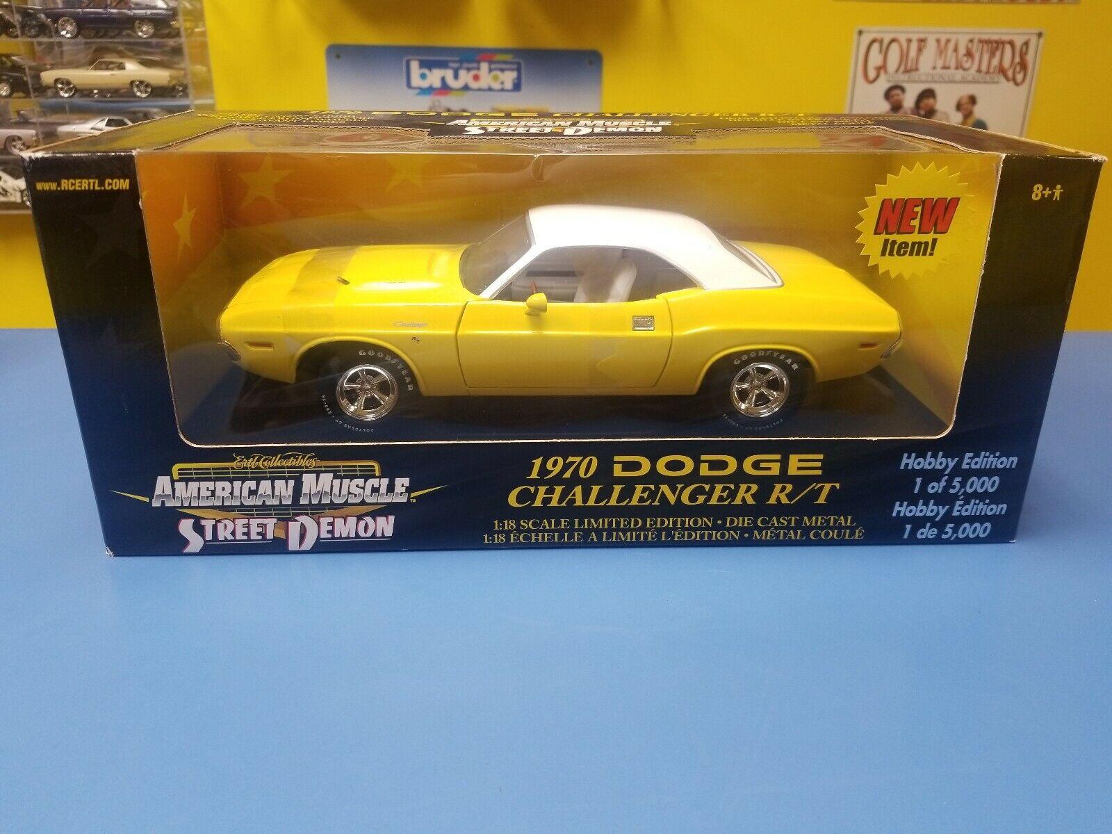 ERTL american muscle street Demon 1970 Dodge Challenger RT Hobby Edition jaune