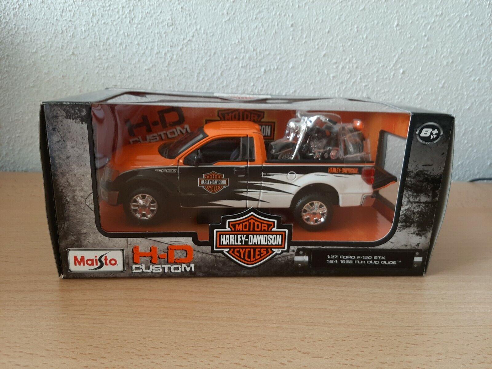Harley FLH Duo Glide 1:24 NEU Maisto Modellauto Ford F-150 STX Pick-up 1:27