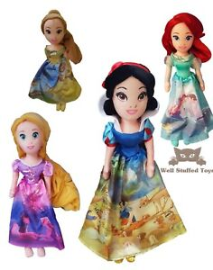 "UFFICIALE Disney Princess Peluche giocattolo morbido bambola Belle Biancaneve Ariel Rapunzel 16"""