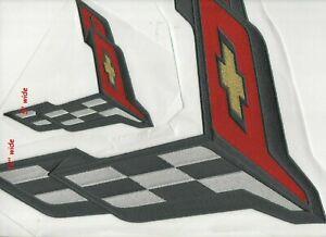 """Corvette Vette de Course Grand Sport C-8 2-PATCH Ensemble : Peel N Stick 12 """" +"""