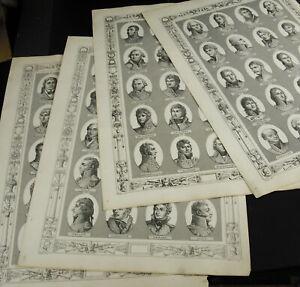Engraving-Xixth-4-Engravings-Portraits-Of-Marshals-General-Empire-Napoleon