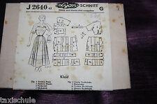 Original 50er Jahre DDR Lyon Kleid Gr. 42 Schnittmuster J 2640  Vintage Retro
