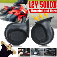 2 Pcs 500db Horn 12v Snail Air Horn Electric Super Loud For Motorcycle Car Boat Fits More Than One Vehicle