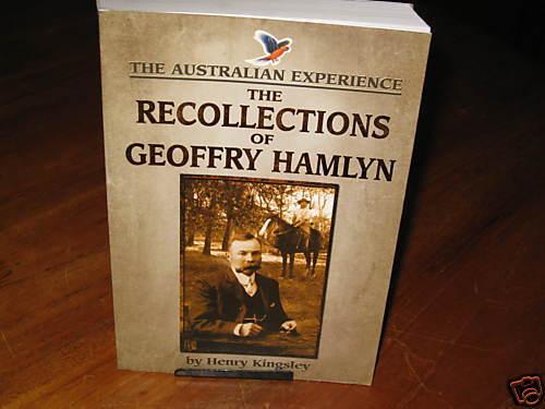 The Recollections of Geoffry Hamlyn Henry Kingsley. NEW best Aust novel  in MELB