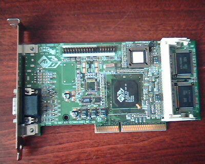 LOT 2 VINTAGE ATI 3D VGA Rage IIC AGP Video Graphics Card 109-49800-00 freeship