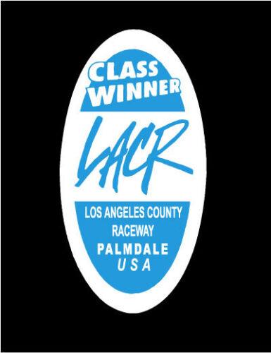 LACR CLASS WINNER Los Angeles County Raceway Hot Rod Drag Racing Decal Sticker