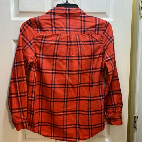 Sz XL 16 Boys Cat /& Jack Red Flannel Shirt NWT