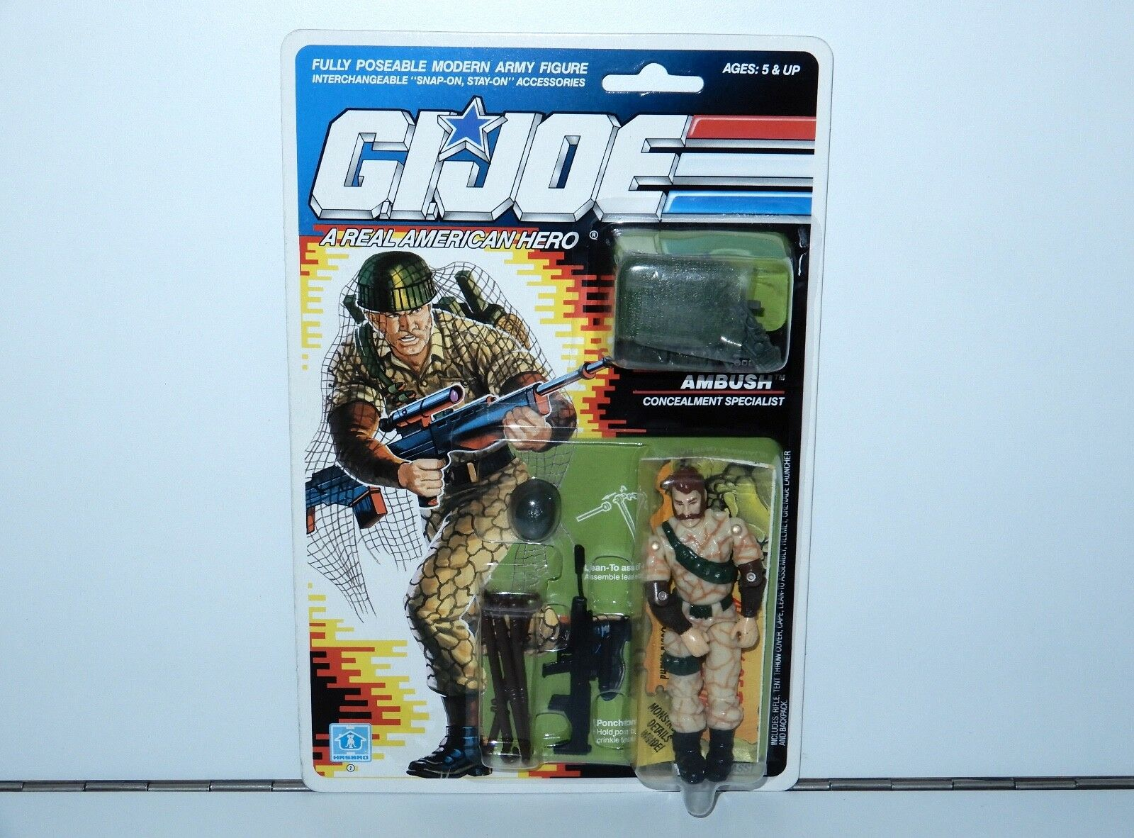 1990 GI JOE AMBUSH v1 MOC MOSC HASBRO USA